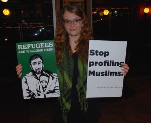 Islamophobia Canvassin 1-16-16 Pic 2